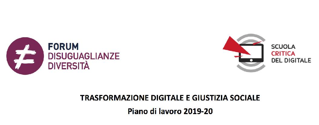 Un piano di azione in quattro mosse per indirizzare la trasformazione digitale alla giustizia sociale. Una collaborazione fra CRS e ForumDD