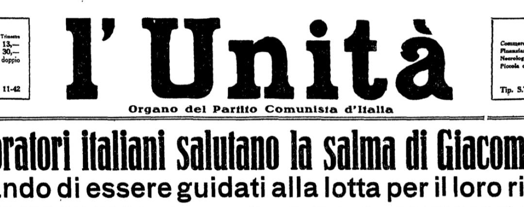 Per Giacomo Matteotti