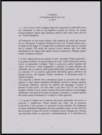 L'IMPRESA E IL BAGLIORE DEL LAVORO VIVO 2,2013